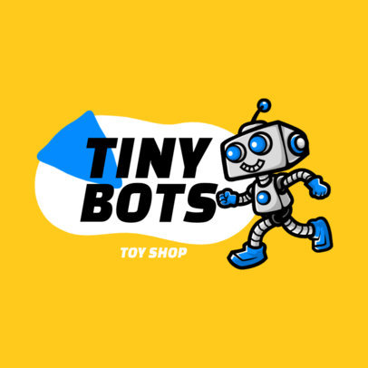 Toy Store Logo Maker Featuring a Little Robot 3870a-el1