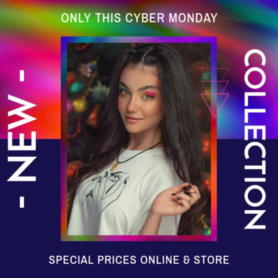 Colorful Instagram Post Template to Announce a New Fashion Collection 3631e