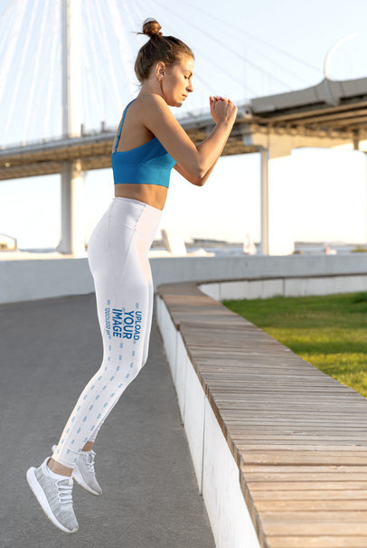 Side View Leggings Mockup Featuring a Woman Jumping m3790-r-el2