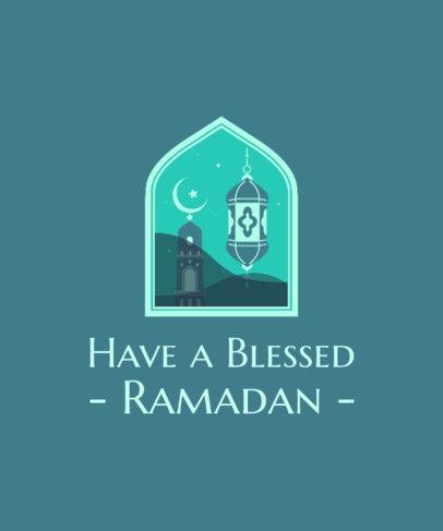 Ramadan-Themen Illustrated T-Shirt Design Generator Featuring a Quote 3615i