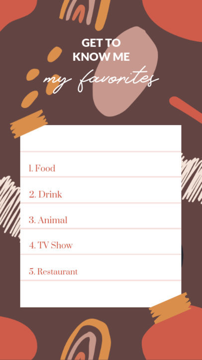 Instagram Story Maker With a Quiz Layout and an Abstract Background 3848-el1