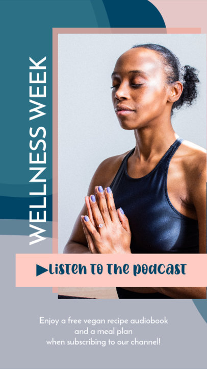 Instagram Story Template for a Wellness-Themed Podcast 3636a