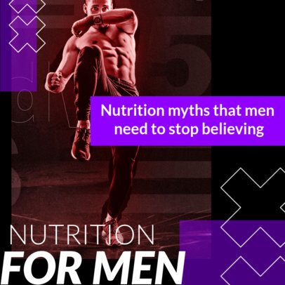 Fitness-Themed Instagram Post Design Maker Featuring Nutrition Tips 3633e