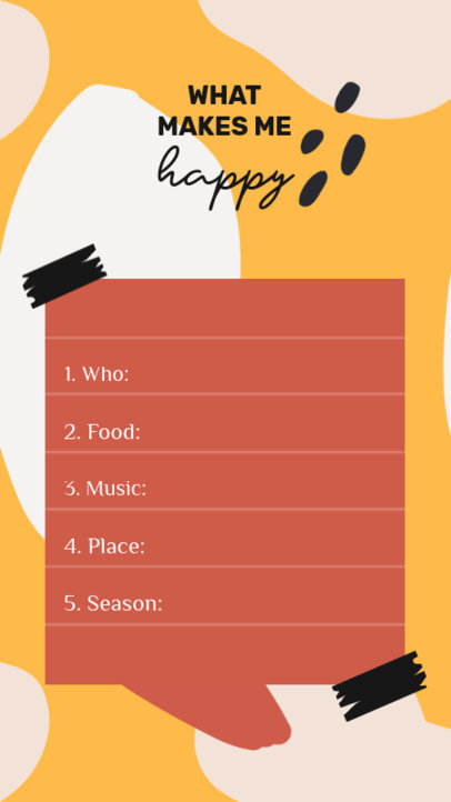 Instagram Story Generator With a List and an Illustrated Background 3848b-el1