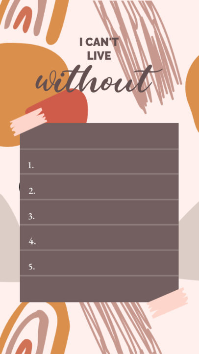 Instagram Story Design Template With a List Layout and a Modern Background 3848c-el1