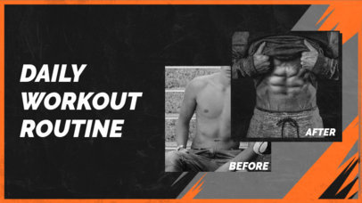 YouTube Thumbnail Design Generator for Fitness Channels Featuring Before & After Pictures 3641b