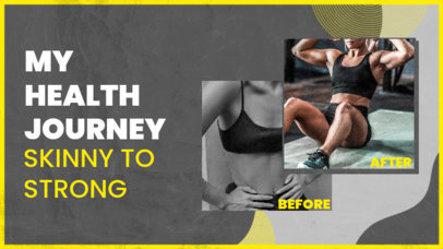 YouTube Thumbnail Generator for Fitness YouTubers Featuring Before & After Pictures 3641e