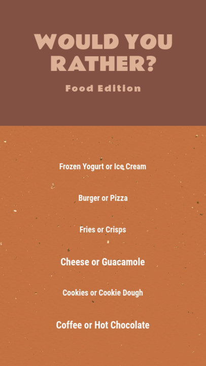 Simple Instagram Story Design Maker for a Food-Themed Quiz 3852c-el1