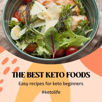 Instagram Post Design Template Featuring Keto Diet Tips 3632g