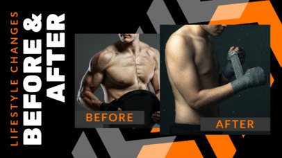 YouTube Thumbnail Maker With a Fitness Theme and Before and After Pictures 3642