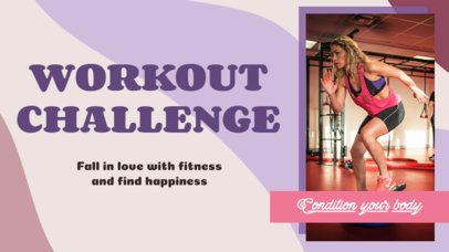 YouTube Thumbnail Generator for a Fitness Challenge 3636b