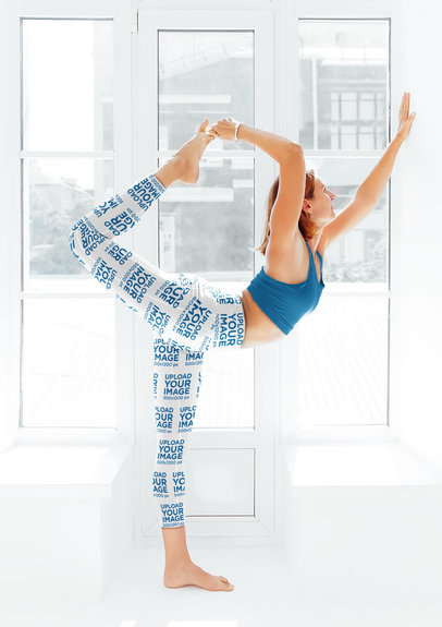 Leggings Mockup Featuring a Woman in a Standing Yoga Pose m4294-r-el2