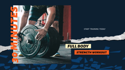 YouTube Thumbnail Design Maker with a Strength Workout Routine 3635a