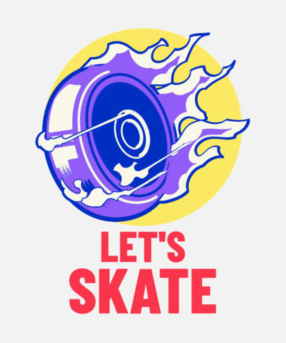Bold T-Shirt Design Maker with a Roller Skating Theme 3630b