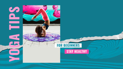 YouTube Thumbnail Design Maker to Share Yoga Tips for Beginners 3536d