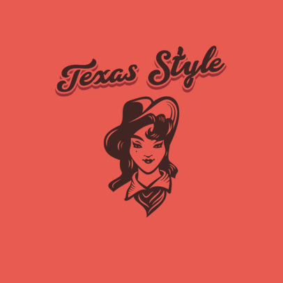 Vintage Clothing Brand Logo Creator with a Texan Style 4297e