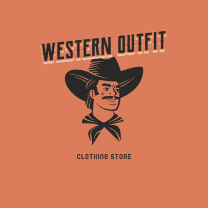 Western-Themed Logo Maker for a Clothing Store 4297h