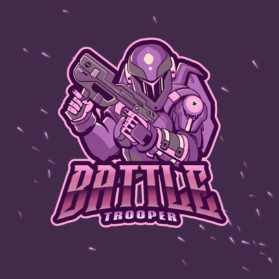 Logo Template Inspired by Gears of War Featuring a Futuristic Soldier Illustration 4307g