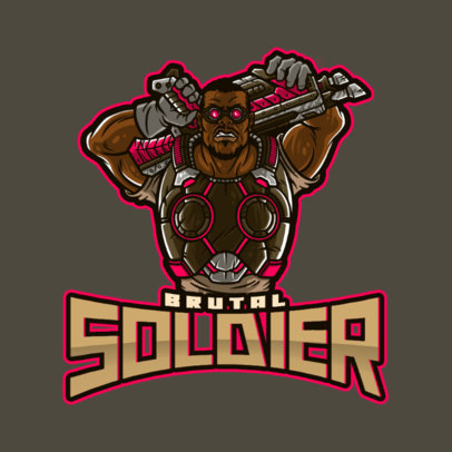 Gears of War-Inspired Logo Creator Featuring a Strong Soldier 4302e
