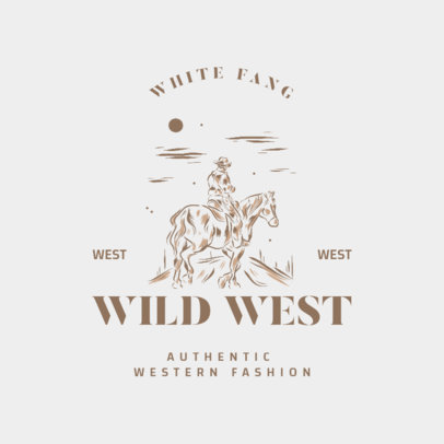 Authentic Western Fashion Brand Logo Generator with Vintage Illustrations 4295s