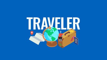 Text Animation Maker with Travel Icons a142