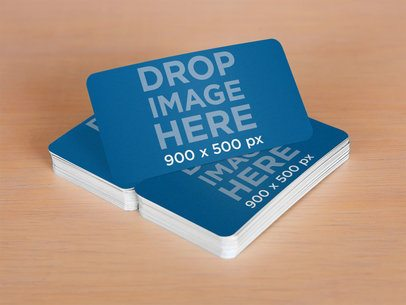 Mockup Featuring a Stack of Business Cards Sitting on Top of a Desk a6277