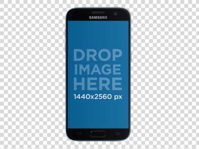 Samsung Galaxy S7 in Portrait Position Mockup (Front View) 12165