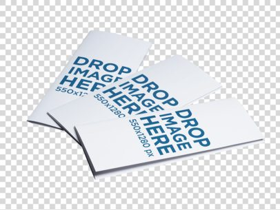 Set of Three Brochures Template Lying on a Transparent Surface a6342